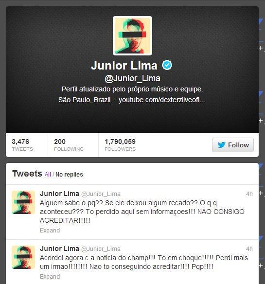 Junior Lima (Foto: Twitter/Reprodução)