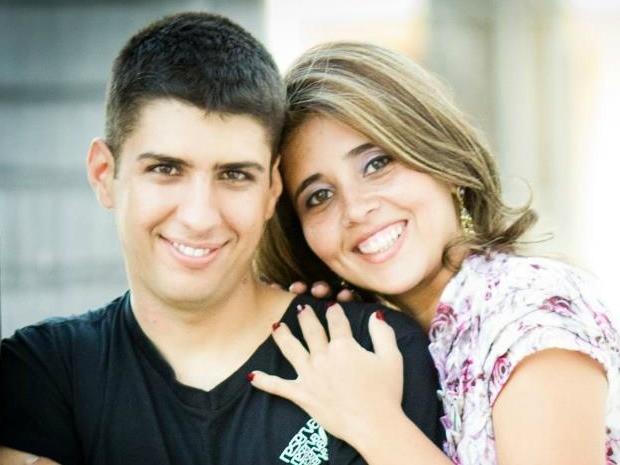 Nádia se casou um mês após descobrir que estava com a doença (Foto: Arquivo pessoal)