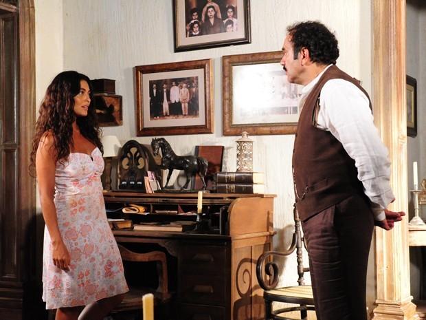 Nacib pede Gabriela em casamento, mas ela parte o coração do árabe (Foto: Divulgação/TV Globo)