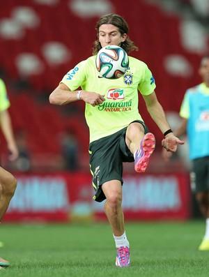 Filipe Luis, treino Brasil (Foto: Mowa Press)