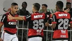 Golaços dão ótima vantagem ao Fla sobre o Santos na ida (André Fabiano/Código19/Estadão Conteúdo)