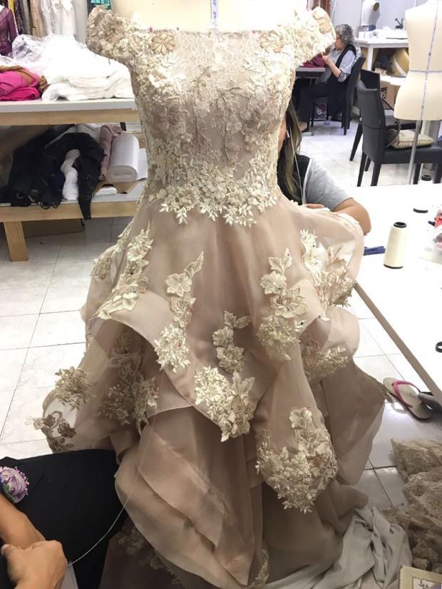 O vestido de Luana Marquezine feito por  (Foto: Arquivo Pessoal)