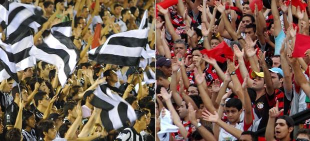 torcidas de Treze e Campinense (Foto: Leonardo Silva / Jornal da Paraíba)