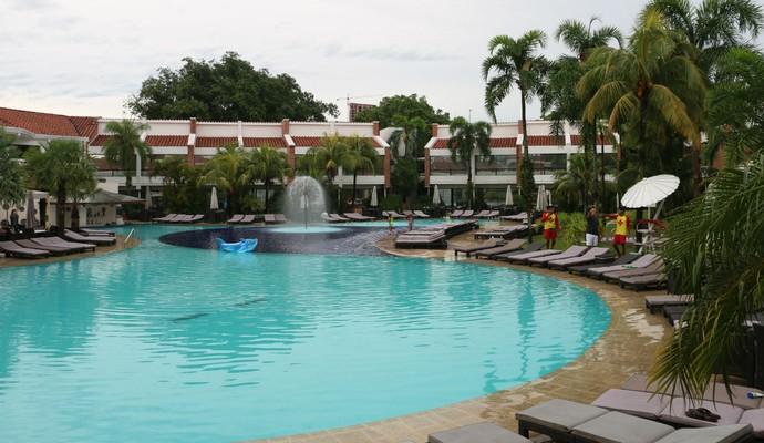 Los Tajibos, hotel da delegação do Inter em Santa Cruz de la Sierra (Foto: Diego Guichard)