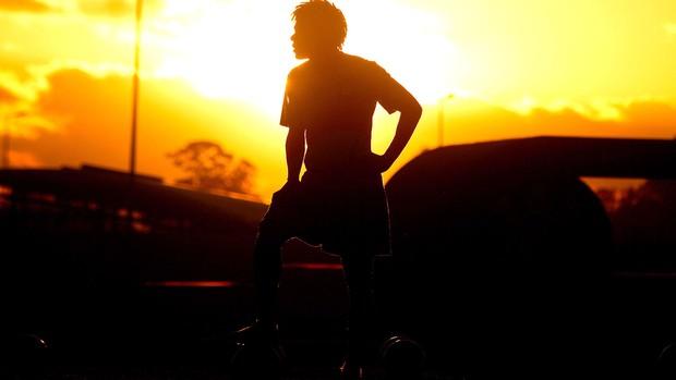 Romarinho no treino do Corinthians (Foto: Daniel Augusto Jr. / Ag. Corinthians)
