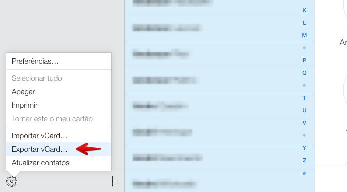 Baixando contatos do iCloud (Foto: Reprodução/Helito Bijora)