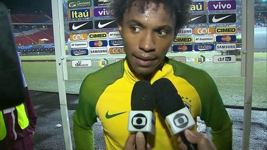 Willian dedica o gol diante da Venezuela à mãe hospitalizada