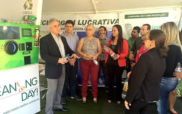 Rede Amazônica em Rondônia lança campanha 'Cleaning Day' (Foto: Giseli Buscariollo/G1)