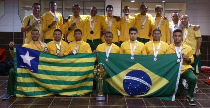 Caic Balduíno vice no Mundial Escolar (Foto: Divulgação)