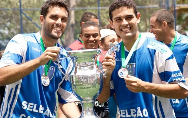 Luizinho e Helcinho futebol de 7 (Foto: Joaquim Azevedo/Jornal F7)
