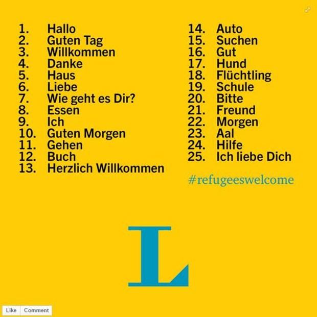"""""""Amigo"""" e """"como vai você"""" são as algumas das traduções mais populares do alemão para o árabe  (Foto: Reprodução)"""