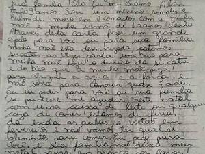 Carta foi escrita e colocada dentor de uma caixa de correspondência em São Carlos (Foto: Luciana Berllucci/Arquivo Pessoal)