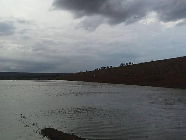 Em dois dias, açude de Taperoá recebeu mais de 5 milhões de m³ de agua, diz Aesa (Foto: Antônio Neto/Arquivo Pessoal)