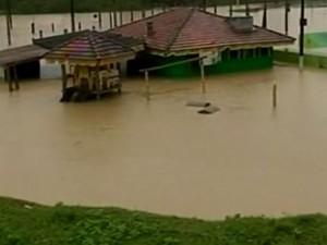 Enchente Vale do Itajaí (Foto: Reprodução/RBS TV)