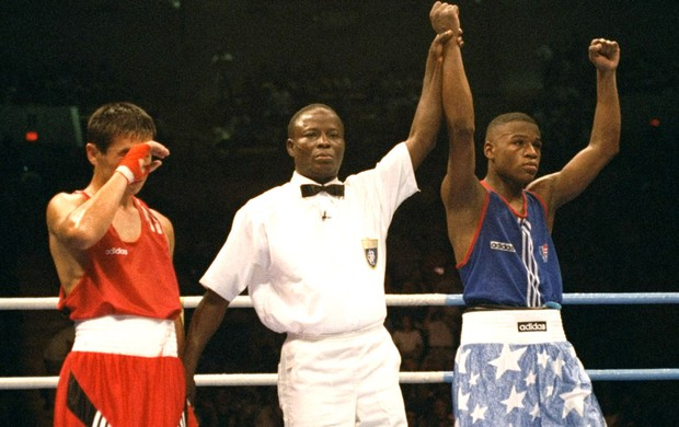lutador de boxe Floyd Mayweather atlanta 1996 (Foto: Getty Images)