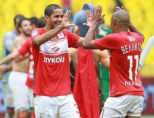Romulo comemora gol do Spartak (Foto: Divulgação / Site Oficial)
