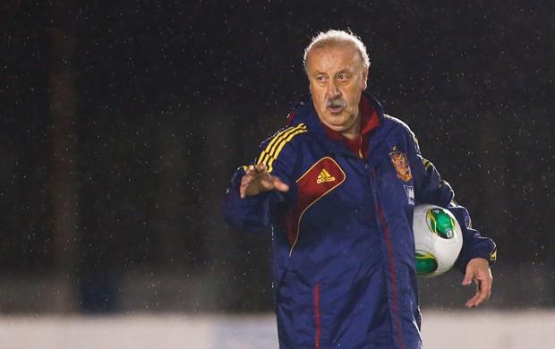Vicente del Bosque treino espanha (Foto: AP)
