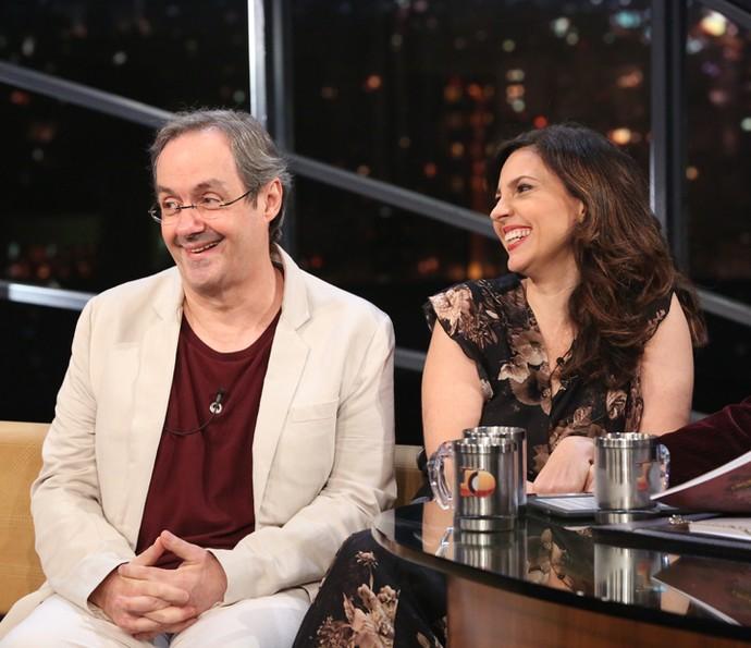 Daniel Dantas e Melissa Vettore participa do 'Programa do Jô' (Foto: Carol Caminha/Gshow)