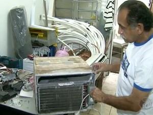 Técnico em refrigeração tem os maiores salários (Foto: Reprodução EPTV)