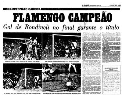 Rondinelli, Flamengo, campeão, 1978 (Foto: Reprodução/Acervo O Globo)