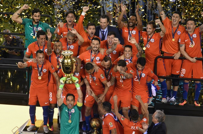 Chile campeão Copa AMérica Centenario (Foto: AFP)