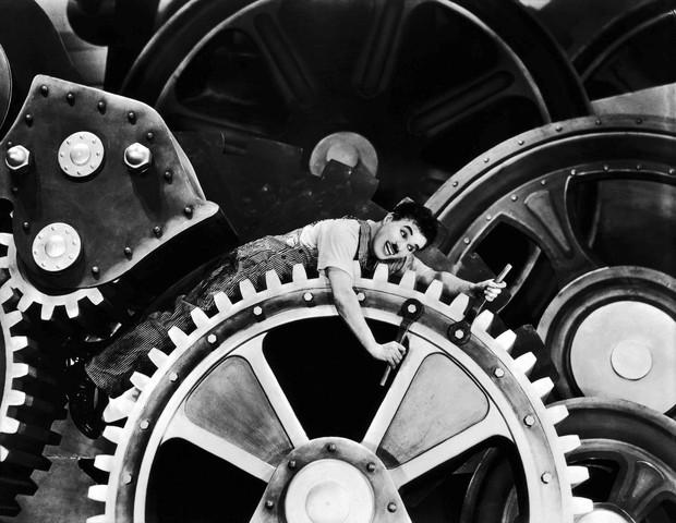 Tempos modernos - Charles Chaplin (Foto: Reprodução)