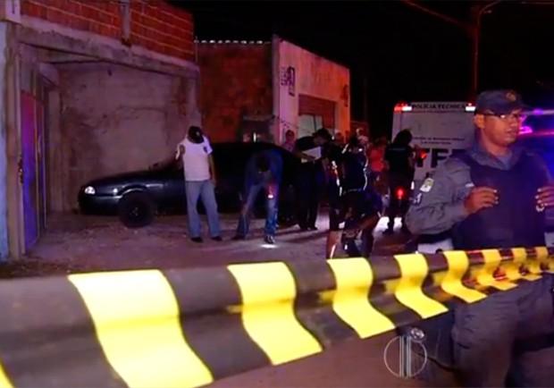 crime aconteceu na Rua Bela Vista por volta das 20h, horário em que muitos moradores estavam na rua (Foto: Reprodução/Inter TV Cabugi)