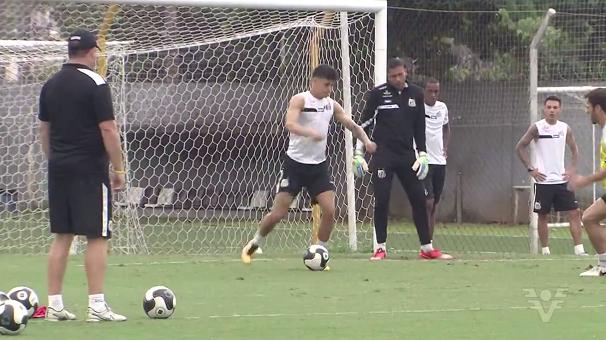 Santos treino (Foto: Reprodução/TV Tribuna)