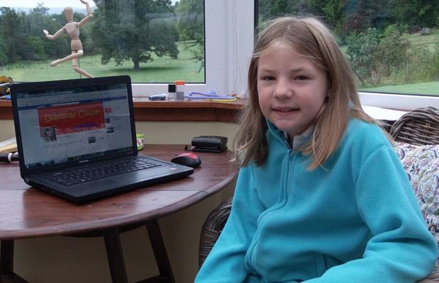 Martha mora na Escócia e tem blog onde critica merenda escola (Foto: Arquivo pessoal)
