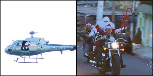 Chegada do Papai Noel, em Manaus (Foto: Bom dia Amazônia)