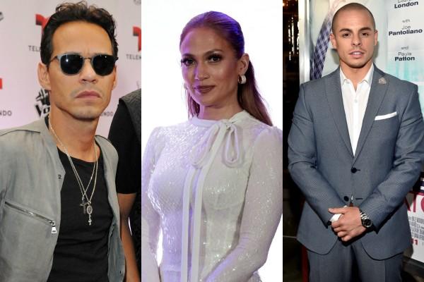 Marc Anthony, Jennifer Lopez e Casper Smart (Foto: Getty Images)