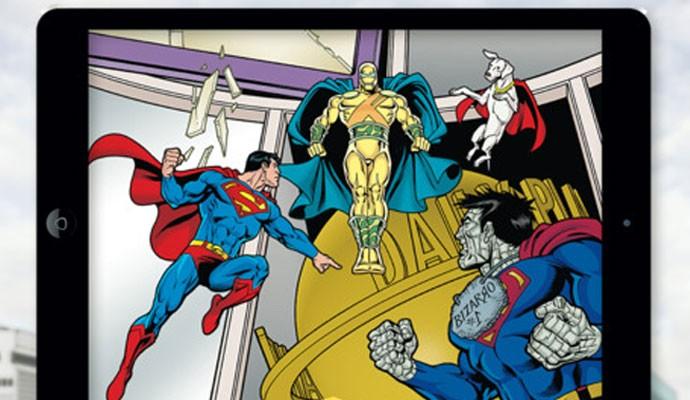 E-book interativo infantil em forma de aplicativo 'Superman and Bizarro Save the Planet' foi criado pela startup LivoBook após fazer acordo com a Warner Bros.