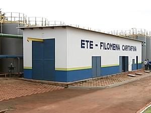 Inauguração Estação de Tratamento de Esgoto Uberaba (Foto: Reprodução/TV Integração)