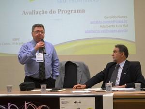 Representantes da Capes e do CNPq apresentaram avaliação do programa (Foto: Stefhanie Piovezan/G1)