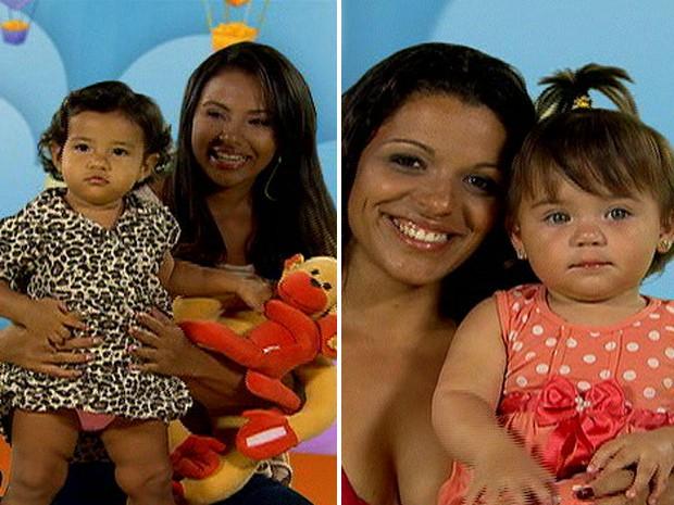 Natanielle, mãe da Fernanda, e Patrícia, mãe da Mel fizeram os piores tempos na prova que formou o Chiqueirinho (Foto: Mais Você/ TV Globo)