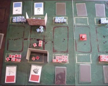 Shield Wall: o protótipo do jogo de Fabiano e José Onça (Foto: Arquivo pessoal)