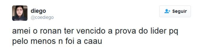 tweet prova do líder (Foto: Reprodução/Internet)