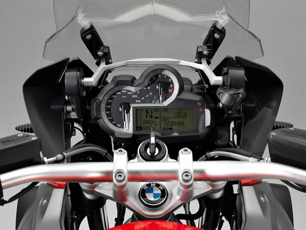 Painel da BMW R 1200 GS (Foto: Divulgação)
