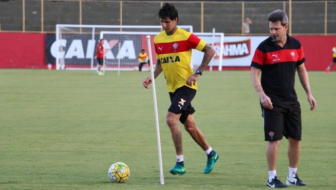 Vitória; treino; Toca do Leão; Barradão; Victor Ramos; Argel Fucks (Foto: Francisco Galvão/EC Vitória/Divulgação)