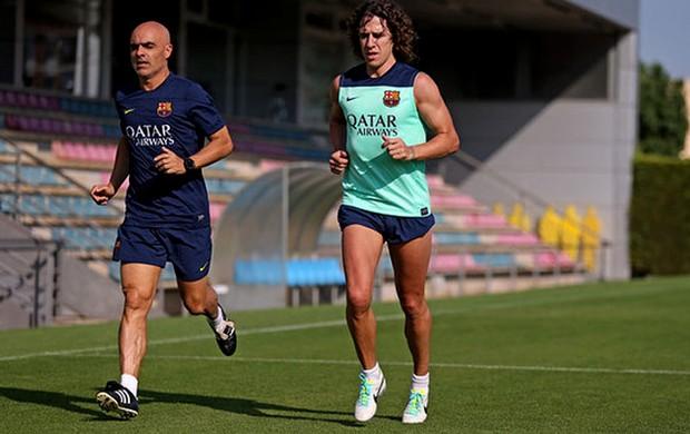 Puyol barcelona treino (Foto: Reprodução / Instagram)