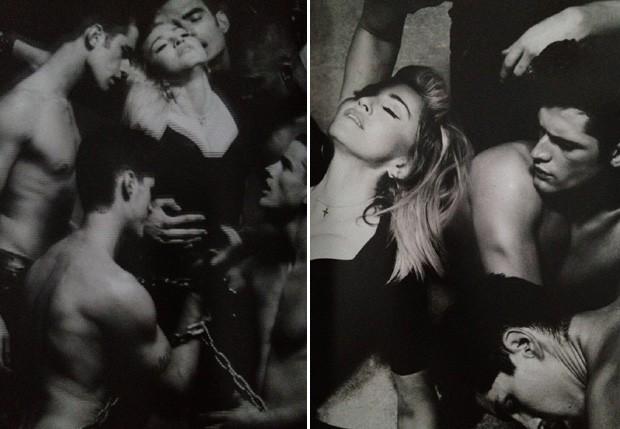 Madonna no programa da MDNA Tour (Foto: reprodução)