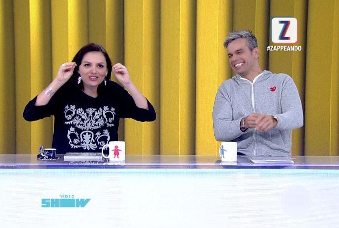 Otaviano apresenta Vídeo Show ao lado de Monica Iozzi (Foto: Zappeando)