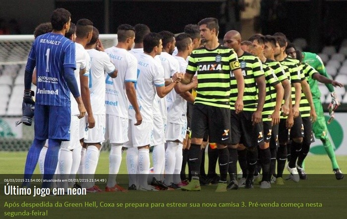 Blog Torcida Coritiba - camisa Green Hell