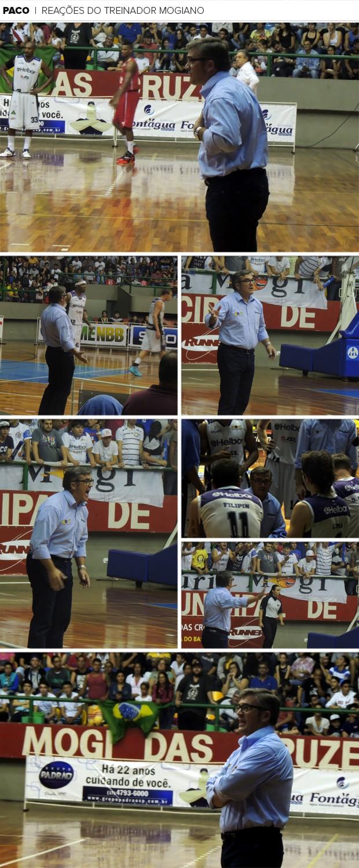 Mosaico Paco García Mogi das Cruzes reações (Foto: Artes GloboEsporte.com)