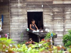 Moradores da comunidade de Mari, em Mazagão ainda vivem como na metade do século passado (Foto: Gabriel Penha/G1)