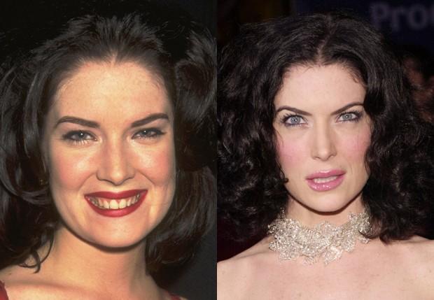 Lara Flynn Boyle em 1999 e em 2001 (Foto: Getty Images)