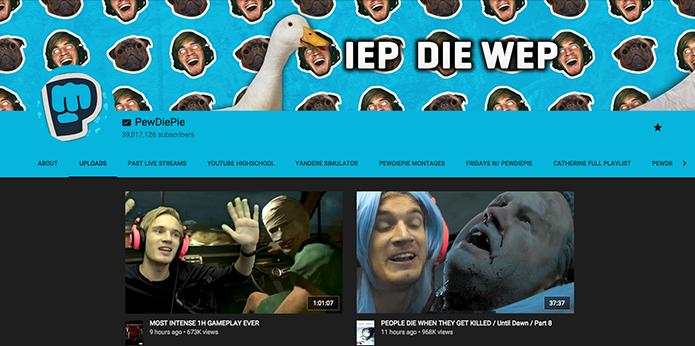 Plataforma do YouTube traz grandes nomes do site (Foto: Reprodução/Murilo Molina)