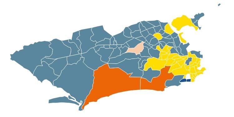 Mapa eleição Rio