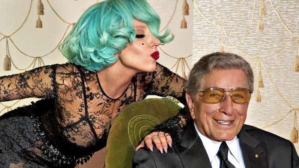 Lady Gaga e Tony Bennett (Foto: Divulgao)