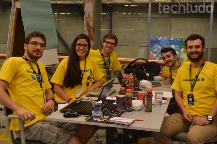 Grupo 8 - Hackathon Globo (Foto: Isabela Giantomaso / TechTudo)